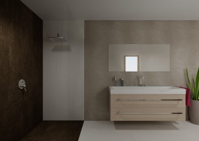 AS Spiegel und Dusche